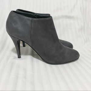 J. Crew Low Cut Heeled Leather Ankle Boots, Black Size 9